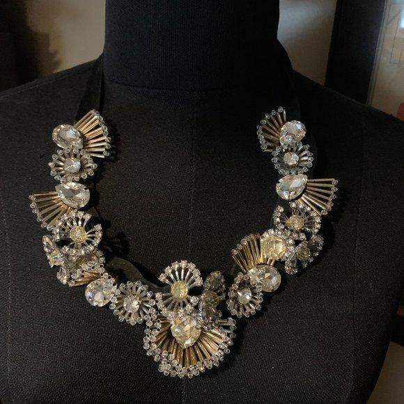Banana Republic Bib rhinestone statement necklace